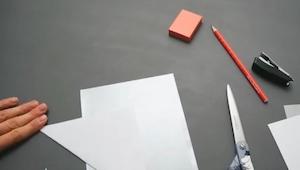 Een paar blaadjes papier, een schaar, lijm... Het resultaat? Geweldig!