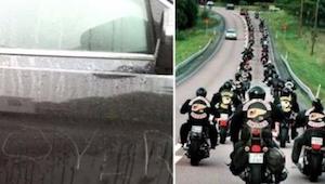 20 motorrijders wachtten bij school op deze jongen. De reden: ongelofelijk!