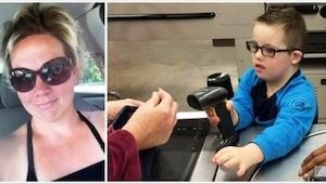 Toen een moeder zag wat de kassière deed met haar zoon met Downsyndroom, moest z