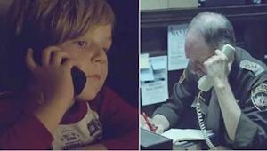 Een jongen belt naar de politie, op zoek naar zijn moeder die in de hemel is. Wa