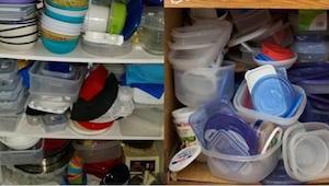 Duizenden keukens zijn in chaos door talloze plastic containers. Tijd om het te
