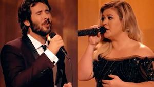 Josh Groban nodigt Kelly Clarkson uit voor een duet en luister naar hen en krijg