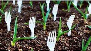 Plaats je vorken met de tanden omhoog in je tuin en niets zal dicht bij je plant
