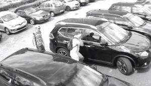 Mannen kijken in de auto en lijken hem te stelen. De echte reden om in te breken