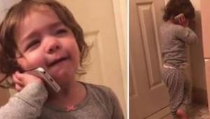 Deze mama had genoeg van een telemarketingmedewerker en gaf haar dochter de tele