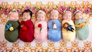 De mini-versies van Disney prinsessen. Een unieke fotosessie, die een echte sens