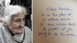 Een 83-jarige schreef een brief aan haar vriendin - haar bericht zal je diep rak