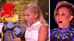 Een buiksprekerster geeft een ongelooflijke show bij Talent-show! Zie op wie haa