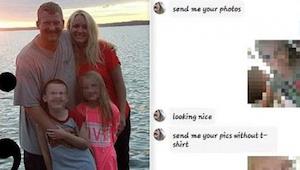 Wanneer de vader van een 7 jarig meisje de berichten van haar las, contacteerde