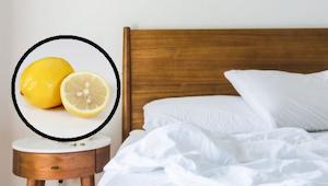 Ontdek wat er gebeurt als je een halve citroen naast je bed legt.
