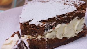 Chocoladetaart met 2 ingrediënten