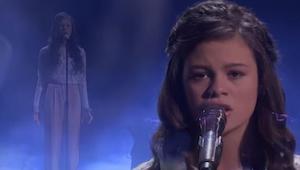 Deze 13-jarige charmeerde de jury en het publiek met een prachtige stem- en rijp
