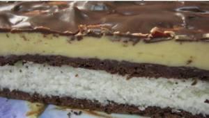 Een heerlijke chocolade-kokos-taart zonder te hoeven bakken. Een ideaal recept!