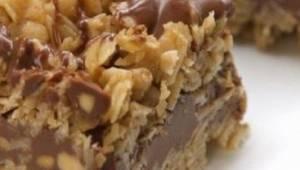 Haverblokjes met chocolade zonder bakken en zonder meel