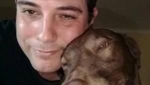 De geredde hond herkende de geur van haar eerste baasje. Haar reactie moet je zi