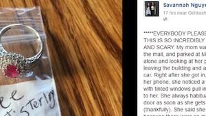 De ring en het kaartje achter de ruitenwisser verontrustten de vrouw. De reden i