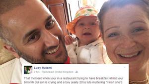 Een jonge man behandelde een moeder met baby onrespectvol. Het antwoord van zijn