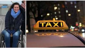 Een taxichauffeur weigerde een vrouw in rolstoel . Toen gebeurde er iets geweldi