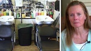 Een bezoek aan de kapper leidde tot een beroerte van de vrouw. Nu waarschuwt ze