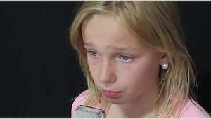De 11-jarige schreef het liedje zelf. Al na enkele seconden realiseerde ik me wa